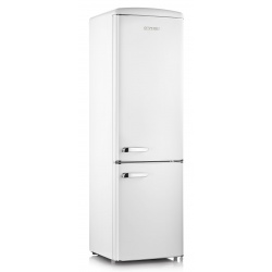 Combina frigorifica Severin Retro RKG 8925, Clasa A++, 188 KWh/an, 255L, alb