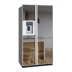 """Side by side incorporabil IOMABE Lux """"KB"""" Series ORE24CGFKB200, clasa A+, 572 l, No Frost, Inox cu front Oglinda Fumurie"""