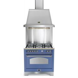Set Aragaz Lofra Dolcevita RLVG96MFT/CI, 90x60cm, gaz, 5 arzatoare, grill +Splash Back 90+Hota Dolcevita 90, albastru