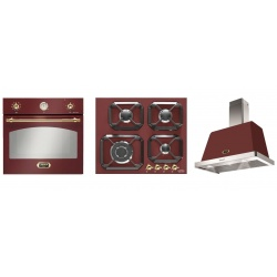 Set cuptor incorporabil LOFRA DOLCEVITA FRR69EE + plita HRR6G0 + hota Dolcevita 60 cm, rosu burgundy
