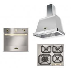Set cuptor incorporabil LOFRA DOLCEVITA FRS69EE + plita HRS6G0 + hota Dolcevita 60 cm, inox