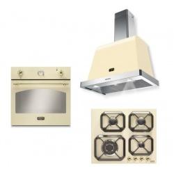 Set cuptor incorporabil LOFRA DOLCEVITA FRBI69EE + plita HRBI6G0 + hota Dolcevita 60 cm, crem