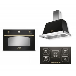 Set cuptor incorporabil LOFRA DOLCEVITA FRNM99EE + plita HRNM9G0 + hota Dolcevita 90 cm, negru mat