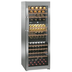 Vitrina vinuri frigorifica Liebherr WTes 5872 Vinidor, 496L, 3 zone temperatura, clasa A, Argintiu