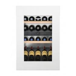 Vitrina vinuri frigorifica incorporabila Liebherr EWTgw 1683, 104L, 2 zone temperatura, clasa A, Alb