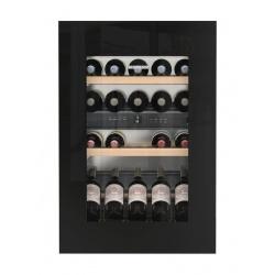 Vitrina vinuri frigorifica incorporabila Liebherr EWTgb 1683, 104L, 2 zone temperatura, clasa A, Negru