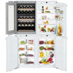 Side by side incorporabil Liebherr SBSWdf 64I5 No Frost, compartiment vinuri, 5 zone temperatura, 416 L, clasa A++/A+++
