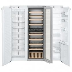 Side by side incorporabil Liebherr SBSWdf 99I5 No Frost,compartiment vinuri, 4 zone temperatura, 768 L, clasa A++/A/A+++