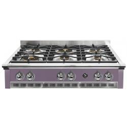 Plita incorporabila cooktop STEEL Ascot, 90 cm , 6 arzatoare, aprindere electrica, siguranta gaz, mov