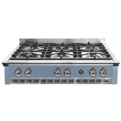 Plita incorporabila cooktop STEEL Ascot, 90 cm , 6 arzatoare, aprindere electrica, siguranta gaz, albastru