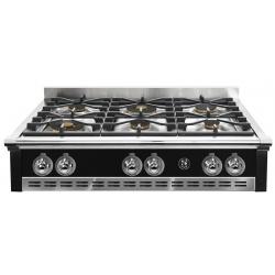 Plita incorporabila cooktop STEEL Ascot, 90 cm, 6 arzatoare, aprindere electrica, siguranta gaz, negru