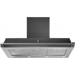 Hota decorativa STEEL Ascot 100, 100 cm, 1 motor, 4 viteze, 900 m3/h, panou control soft touch, inox / negru antracit