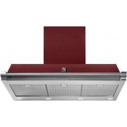 Hota decorativa STEEL Ascot 90, 90 cm, 1 motor, 4 viteze, 900 m3/h, panou control soft touch, inox / visiniu