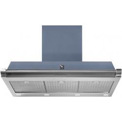 Hota decorativa STEEL Ascot 90, 90 cm, 1 motor, 4 viteze, 900 m3/h, panou control soft touch, inox / albastru