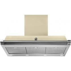 Hota decorativa STEEL Ascot 90, 90 cm, 1 motor, 4 viteze, 900 m3/h, panou control soft touch, inox / crem