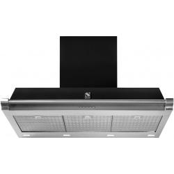 Hota decorativa STEEL Ascot 90, 90 cm, 1 motor, 4 viteze, 900 m3/h, panou control soft touch, inox / negru