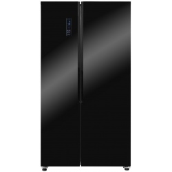 Side by Side Exquisit SBS 160-4 XA ++ GLsw, Clasa A++, 512L, No Frost, Negru