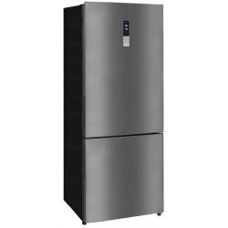 Combina frigorifica Exquisit KGC 440 / 110-5 NFA ++ sw, Clasa A+, 432 L, No Frost, Inox