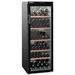 Vitrina vinuri Liebherr WTb 4212, 395 l, 200 sticle, control electronic, H 165 cm, clasa A, Negru