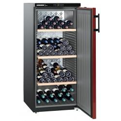 Vitrina vinuri Liebherr WKr 3211Vinothek , 300 l, capacitate 164 sticle, clasa A+, rosu