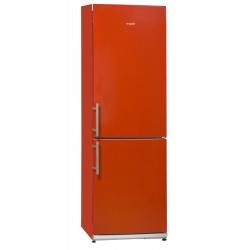 Combina frigorifica Exquisit KGC 34.2 A+++STG Rot, Clasa A+++, 302 L, No Frost, Rosu