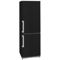 Combina frigorifica Exquisit KGC 35.2 A++STG sw, clasa energetica A++, volum net 298 L, No Frost, Negru