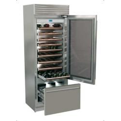 Vitrina frigorifica vinuri, Fhiaba X-Pro70 XG7490TWT3, 3 zone temperatura, NoFrost, clasa A+, 267 l, inox