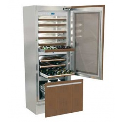Vitrina frigorifica incorporabila vinuri, Fhiaba Integrated70 G7491TWT3, 3 zone temperatura,clasa A+, 267 l, inox