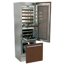 Vitrina frigorifica incorporabila vinuri, Fhiaba Integrated 70 G5991TWT3, 3 zone de temperatura, clasa A+, 218 l, inox