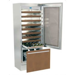 Vitrina frigorifica incorporabila vinuri, Fhiaba Integrated 70 G7490TWT3, 2 zone temperatura, clasa A+, 267 l, inox