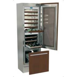 Vitrina frigorifica incorporabila vinuri, Fhiaba Integrated 70 G5990TWT3, 2 zone temperatura, clasa A+, 218 l, inox