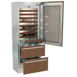 Vitrina frigorifica incorporabila vinuri, Fhiaba Integrated 70 G7490HWT3, 2 zone temperatura, clasa A+, 267 l, inox