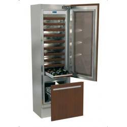 Vitrina frigorifica incorporabila vinuri, Fhiaba Integrated 60 I5990TWT3, 2 zone temperatura, clasa A+, 121 l, inox