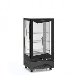 Vitrina frigorifica de cofetarie Tecfrigo MARILYN 275 QB, Capacitate 275 L, 1 zona temperatura +4° C /+10° C, Negru