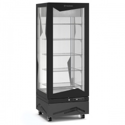 Vitrina frigorifica de cofetarie Tecfrigo MARILYN 450 BTQ, Capacitate 450 L, 1 zona temperatura -15° C /-21° C, Negru