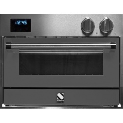 Cuptor electric incorporabil STEEL GENESI, 60x45 cm, 34 lt, 4 functii, cuptor pizza, inox / negru antracit