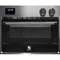 Cuptor electric incorporabil STEEL GENESI, 60x45 cm, 34 lt, 4 functii, cuptor pizza, inox / negru