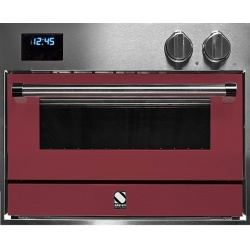 Cuptor electric incorporabil STEEL GENESI, 60x45 cm, 34 lt, 4 functii, cuptor pizza, inox / rosu