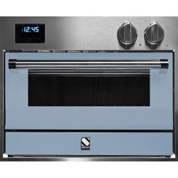 Cuptor electric incorporabil STEEL GENESI, 60x45 cm, 34 lt, 4 fuanctii, cuptor pizza, inox / albastru