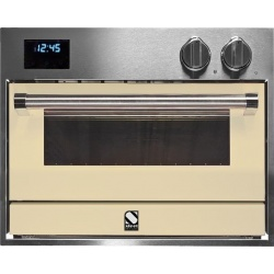 Cuptor electric incorporabil STEEL GENESI, 60x45 cm, 34 lt, 4 fuanctii, cuptor pizza, inox / crem