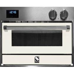 Cuptor electric incorporabil STEEL GENESI, 60x45 cm, 34 lt, 4 fuanctii, cuptor pizza, inox / alb