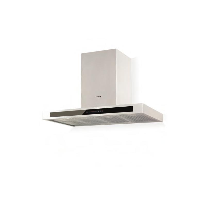 Hota decorativa Fagor CFB-9000AVXA, 90 cm, 10 trepte de extractie, alb