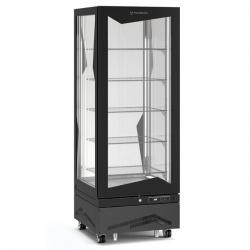 Vitrina frigorifica de cofetarie Tecfrigo MARILYN 450 Q CIOCCO, Capacitate 450 L, 1 zona temperatura +14° C /+16° C, Negru
