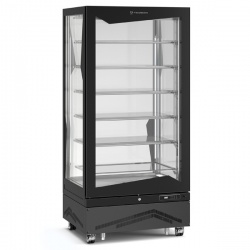 Vitrina frigorifica de cofetarie Tecfrigo MARILYN 650 Q, Capacitate 650 L, 1 zona temperatura +4° C /+10° C, Negru