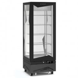 Vitrina frigorifica de cofetarie Tecfrigo MARILYN 450 BTQ-INVERTER, Capacitate 450 L, 1 zona temperatura -15° C /-21° C, Negru