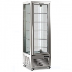 Vitrina frigorifica de cofetarie Tecfrigo DIVA 350 GS, capacitate 350 l, temperatura +4°/+10°C, refrigerare statica, argintiu