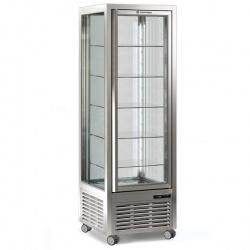Vitrina frigorifica de cofetarie Tecfrigo DIVA 350 BTV BIS, capacitate 350 l, 1 zona temperatura +4°/+10°C, argintiu
