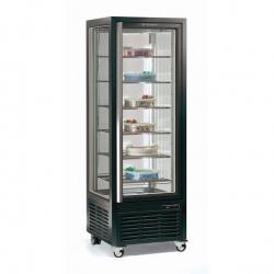 Vitrina frigorifica de cofetarie Tecfrigo DIVA 450 GBT, 450 l, 1 zona temperatura -5/-18°C, refrigerare statica, argintiu
