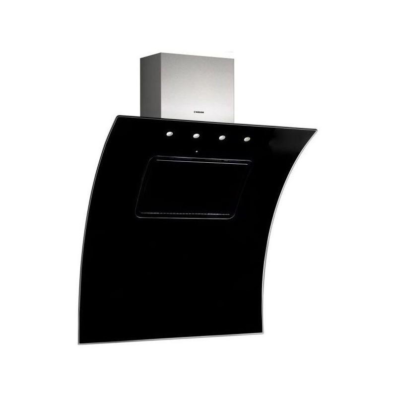Hota decorativa Nodor EVO BLACK, A, 100 W, 10 nivele de extractie, negru