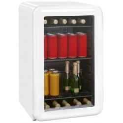 Vitrina racitor de bauturi RETRO tip minibar Exquisit RKB 60-14 A+G, Volum 46 L, Alb